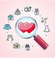 search love wedding concept vector image