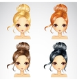 Set Of Event Retro Hairstyle vector image vector image