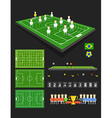 Soccer match infographic elements vector image vector image
