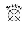 soldier text shooting target background ima vector image vector image
