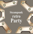 steampunk retro party invitation card vector image vector image
