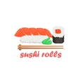 Sushi Rolls Cartoon Style Icon vector image