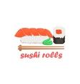 Sushi Rolls Cartoon Style Icon vector image vector image