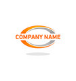 swoosh logo company vector image vector image
