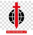 Sword Globe Eps Icon vector image