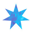 triangle star blue vector image