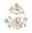 vintage floral bouquets vector image vector image