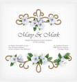 wedding decorative frame vector image vector image