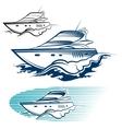 Yacht Emblem set vector image vector image