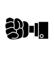glove hand clenched vector image