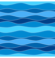 Sea Waves Abstract Seamless Pattern Background vector image