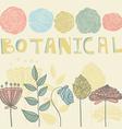 Botanical vector image