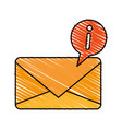 colorful crayon silhouette of sealed envelope mail vector image