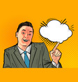 happy businessman or boss business concept vector image