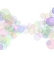 abstract bokeh sunbeams effect isolated on white vector image