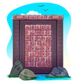 Alphabet blocks with letters vector image