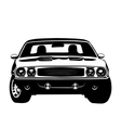 American muscle car legend silhouette vector image vector image