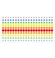 apple shape halftone spectrum pattern vector image