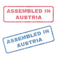 assembled in austria textile stamps vector image vector image