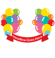 Balloons Bunch With Red Ribbon vector image vector image