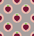 beet pattern Seamless texture with beetroot vector image vector image