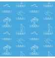 Blue seamless pattern with sailboat vector image vector image