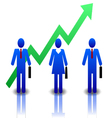 Business-people-blue-green vector image