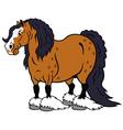 cartoon heavy horse vector image vector image