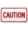 caution rectangular notice vector image vector image