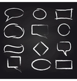 Chalk speech frames on blackboard background vector image vector image