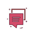 chat sms bubble icon design vector image