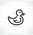 child duck thin line icon vector image