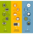 Computer Devices And Equipment Banner Set vector image vector image