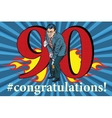 Congratulations 90 anniversary event celebration vector image vector image