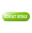 contact details button sticker banner rounded vector image vector image