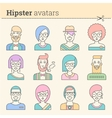 Creative set of hipster avatars vector image vector image