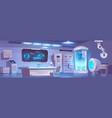 Cryonics laboratory empty interior with equipment