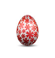 easter egg 3d icon silver color egg isolated vector image vector image