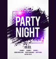 electro night dance party music poster template vector image vector image