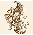 Ethnic mehndi floral vector | Price: 1 Credit (USD $1)