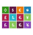Exchange Rate icons on color background vector image vector image