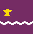 flag of sant adria de besos in barcelona of spain vector image vector image