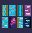 flat set vertical backgrounds for mobile vector image