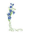 Floral bouquet frame swirl vignette border with