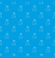 golfing bag pattern seamless blue vector image