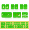 green flat countdown timer with numbers isolated vector image vector image
