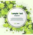 green leaves frame background vector image vector image