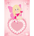 greeting card with a fairy vector image vector image
