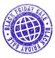 grunge textured black friday sale stamp seal vector image