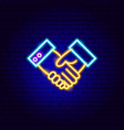 hands free kit neon sign vector image